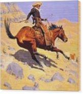 The Cowboy 1902 Wood Print
