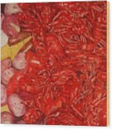 The Crawfish Boil Wood Print