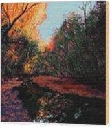 The Creek Bottom Wood Print