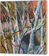 The Cries Of Autumn Wood Print by Mindy Newman