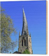 The Crooked Spire Of St Mary And All Saints Church, Chesterfield Wood Print