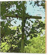 The Cross In Nature Wood Print