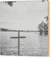The Cross On The Water Wood Print
