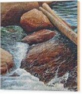 The Crossing Wood Print