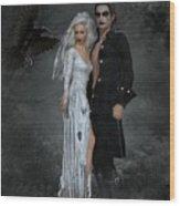 The Crows Wedding Wood Print