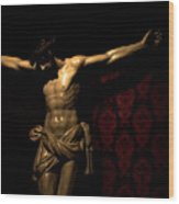 The Crucified Wood Print