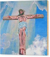 The Crucifixion Daytime Wood Print