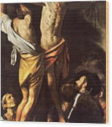 The Crucifixion Of Saint Andrew Wood Print