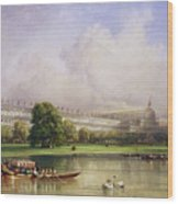 The Crystal Palace Seen From The Serpentine Wood Print