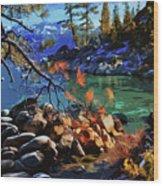 The Crystal Waters Of Lake Tahoe Wood Print
