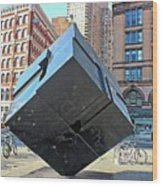 The Cube Wood Print