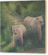 The Cubs Of Katmai Wood Print