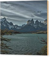 The Cuernos And Lake Pehoe #3 - Chile Wood Print