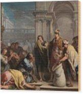 The Cup In Benjamin Sack Amigoni, Jacopo Wood Print