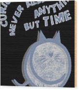 The Curious Cat Wood Print