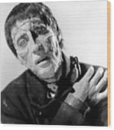 The Curse Of Frankenstein Christopher Lee 1957 Wood Print