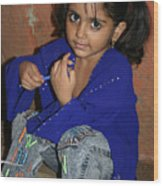 The Cutest Kid In India Wood Print