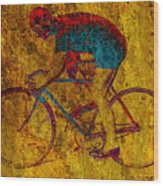 The Cyclist Wood Print