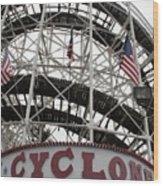 The Cyclone At Coney Island Wood Print
