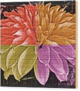 The Dahlia Wood Print