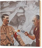 The Dalai Lama Shoots Adolph Hitler Wood Print