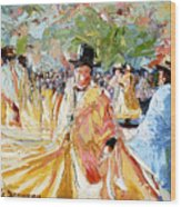 The Dance At La Paz Wood Print