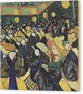 The Dance Hall At Arles Wood Print by Vincent Van Gogh