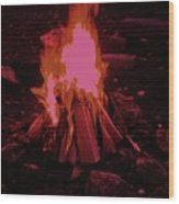 The Dance Of Fire Wood Print