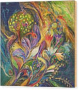 The Dance Of Lilies Wood Print