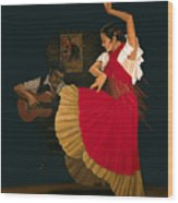 The Dance Of Passion Wood Print