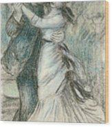 The Dance Wood Print by Pierre Auguste Renoir