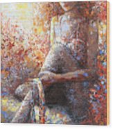 The Dancer In Ardent Wood Print