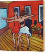 The Dancers Wood Print
