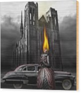 The Dark Angel Wood Print