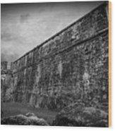The Dark Fort Wood Print