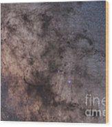 The Dark Horse And Snake Nebulae Wood Print