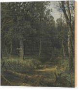 The Dark Wood Wood Print