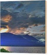 The Darkwoods And Kootenay Lake Wood Print
