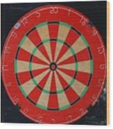 The Dart Board Wood Print