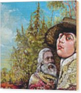 The Dauphin And Captain Nemo Discovering Bogomils Island Wood Print
