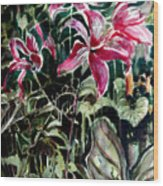 The Day Lilies Wood Print