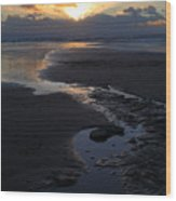 The Days Last Rays At Dunraven Bay Wales Wood Print