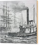 The Days Of Steam And Sail Wood Print