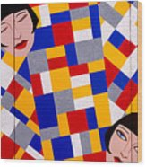 The De Stijl Dolls Wood Print