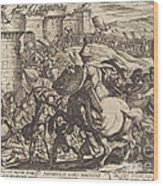 The Death Of Abimelech Wood Print