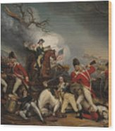 The Death Of General Mercer At The Battle Of Princeton, January 3, 1777  Wood Print