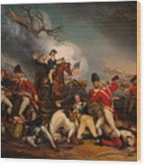 The Death Of General Mercer At The Bottle Of Princeton Wood Print