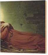 The Death Of Germaine Cousin The Virgin Of Pibrac Wood Print