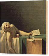 The Death Of Marat Wood Print