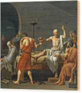 The Death Of Socrates Wood Print